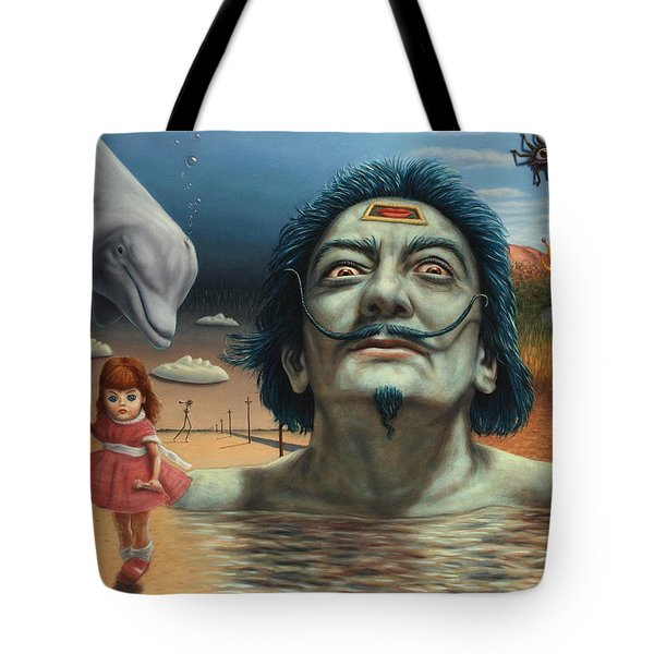 Dolly in Dali-Land Tote Bag by James W Johnson