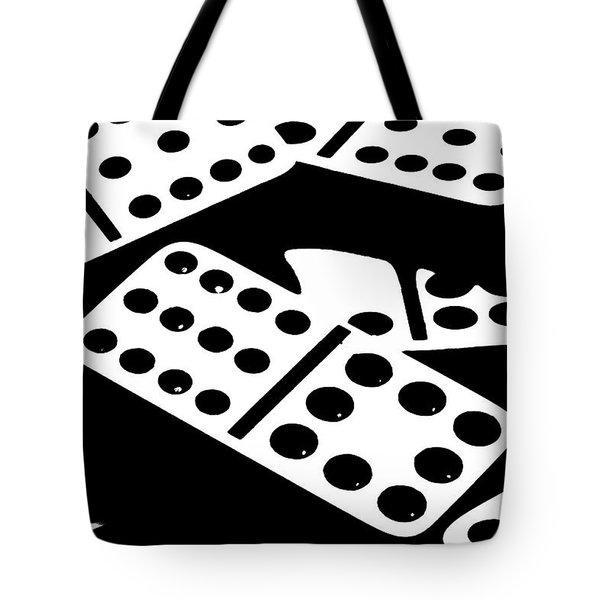 Dominoes Iv Tote Bag by Tom Mc Nemar