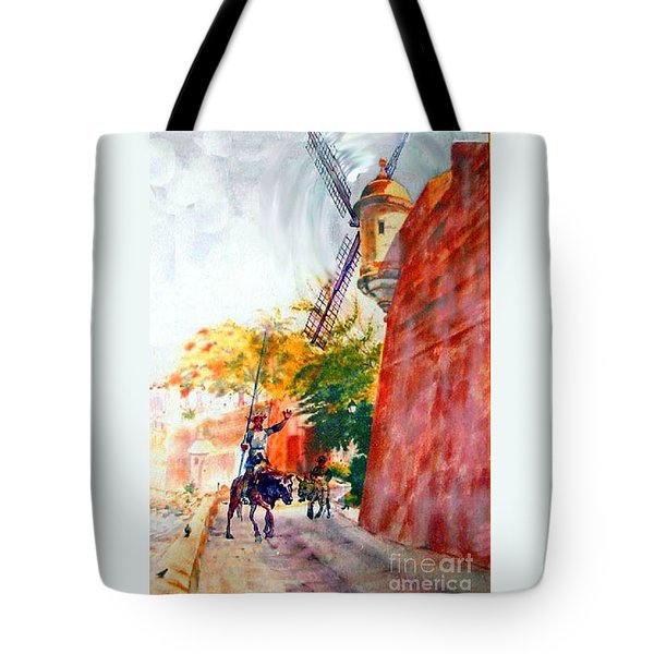 Don Quixote in San Juan Tote Bag by Estela Robles