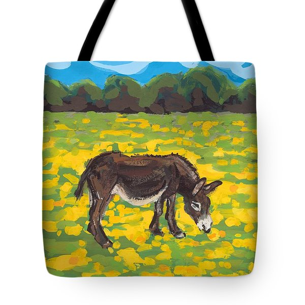 Donkey And Buttercup Field Tote Bag by Sarah Gillard