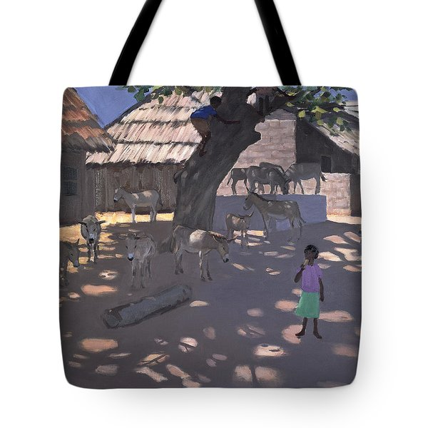 Donkeys Lamu Kenya Tote Bag by Andrew Macara