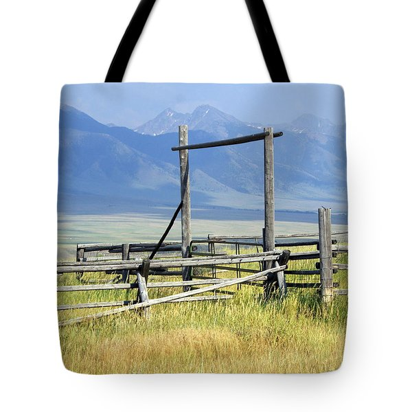 Don't Fence Me In Tote Bag by Marty Koch