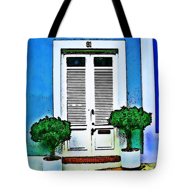 Door 61 Tote Bag by Perry Webster