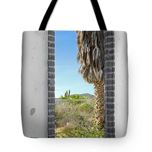 Doorway To The Desert Tote Bag by Cheryl Young