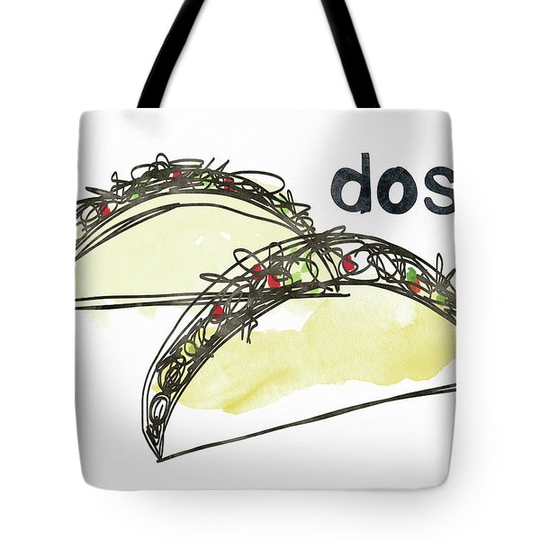 Dos Tacos- Art By Linda Woods Tote Bag by Linda Woods