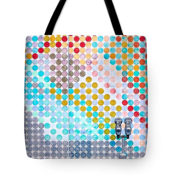 Dots, Many Colored Dots Tote Bag by Todd Klassy