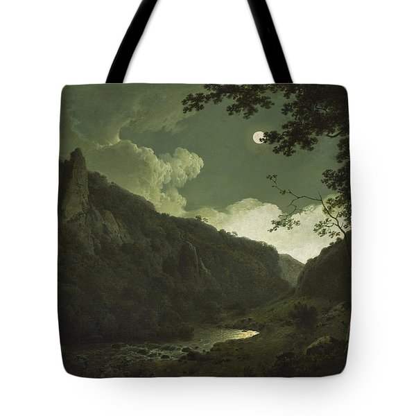 Dovedale By Moonlight Tote Bag by Joseph Wright of Derby