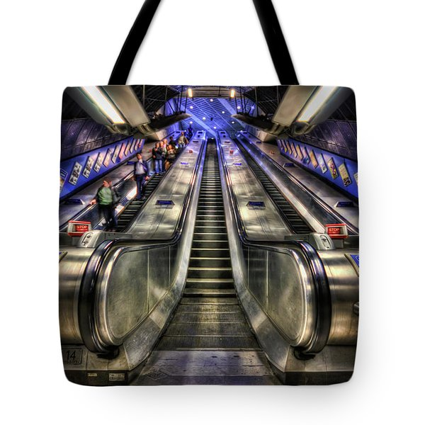Down From A Cloud. Up From The Underground. Tote Bag by Evelina Kremsdorf