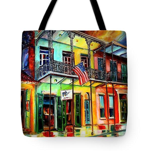 Down On Bourbon Street Tote Bag by Diane Millsap