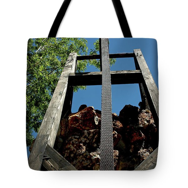 Down the Shaft Virginia City NV Tote Bag by LeeAnn McLaneGoetz McLaneGoetzStudioLLCcom