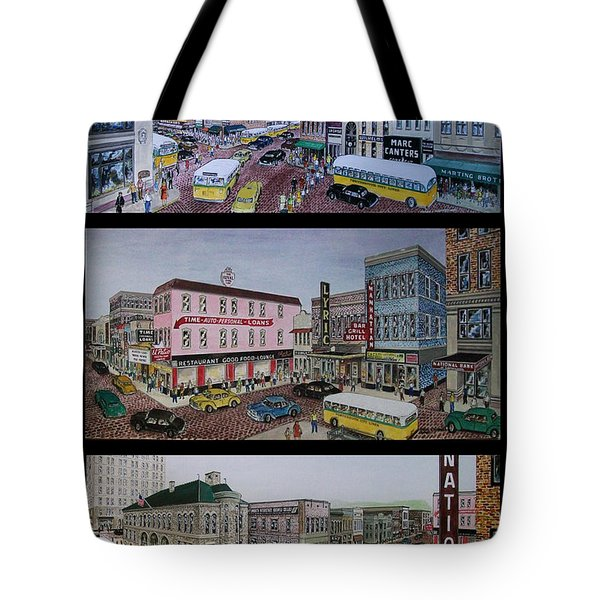 Downtown Portsmouth 1948 Tote Bag by Frank Hunter