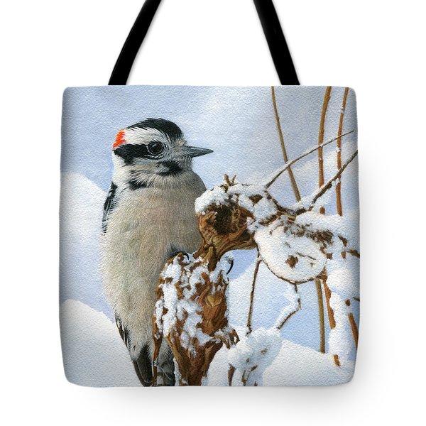 Downy Woodpecker  Tote Bag by Ken Everett
