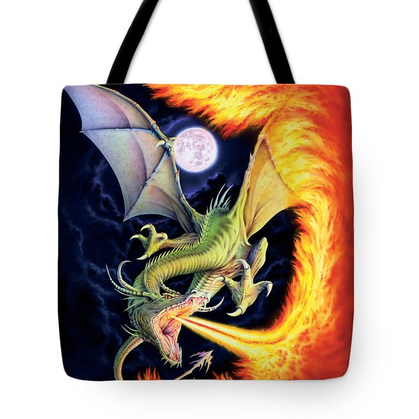 Dragon Fire Tote Bag by The Dragon Chronicles