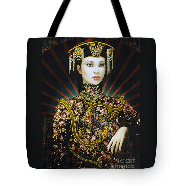 Dragon Smoke Tote Bag by Jane Whiting Chrzanoska