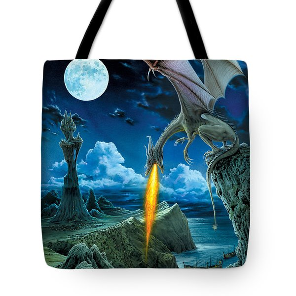 Dragon Spit Tote Bag by The Dragon Chronicles - Robin Ko