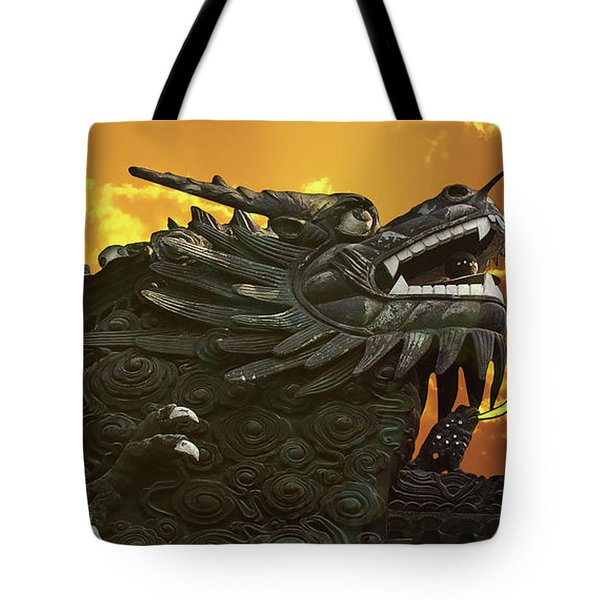 Dragon Wall - Yu Garden Shanghai Tote Bag by Christine Till