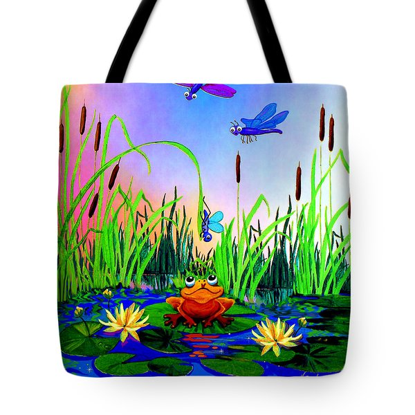 Dragonfly Pond Tote Bag by Hanne Lore Koehler