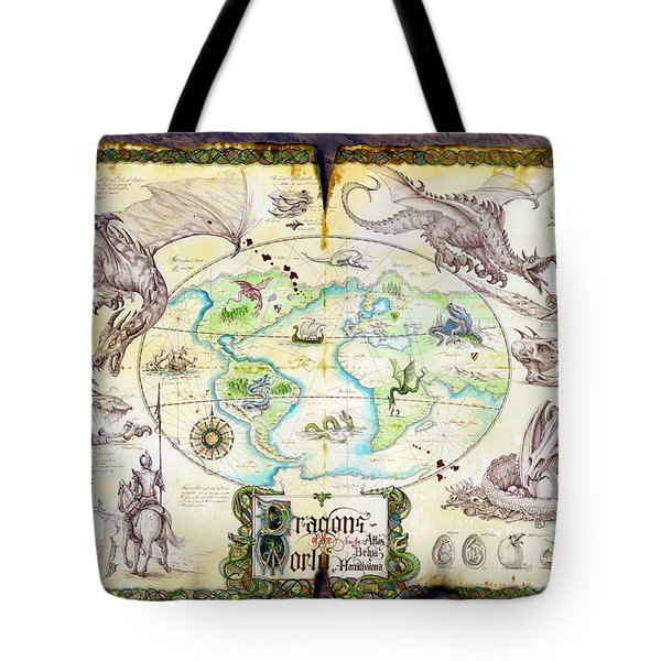 Dragons Of The World Tote Bag by The Dragon Chronicles - Garry Wa