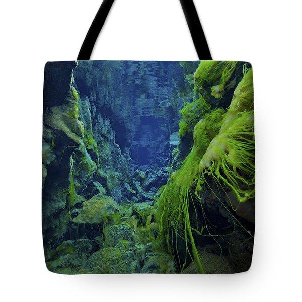 Dramatic Fluorescent Green Algae Tote Bag by Mathieu Meur