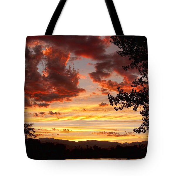 Dramatic Sunset Reflection Tote Bag by James BO  Insogna