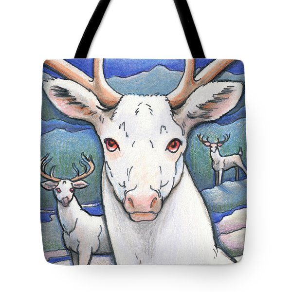 Dream Of The White Stag Tote Bag by Amy S Turner