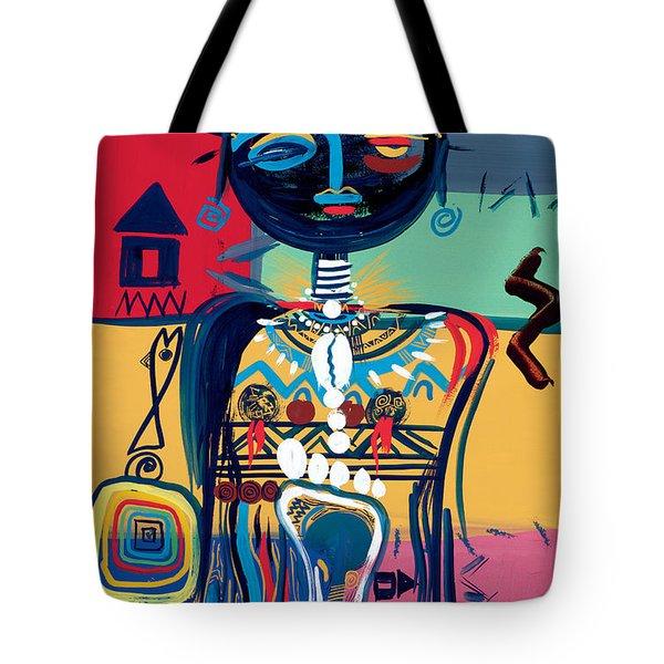Dreaming Of Africa Tote Bag by Oglafa Ebitari Perrin