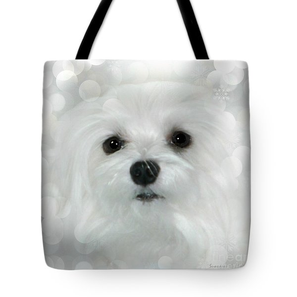 Dreams In White Tote Bag by Morag Bates