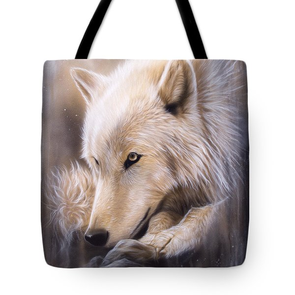 Dreamscape - Wolf Tote Bag by Sandi Baker