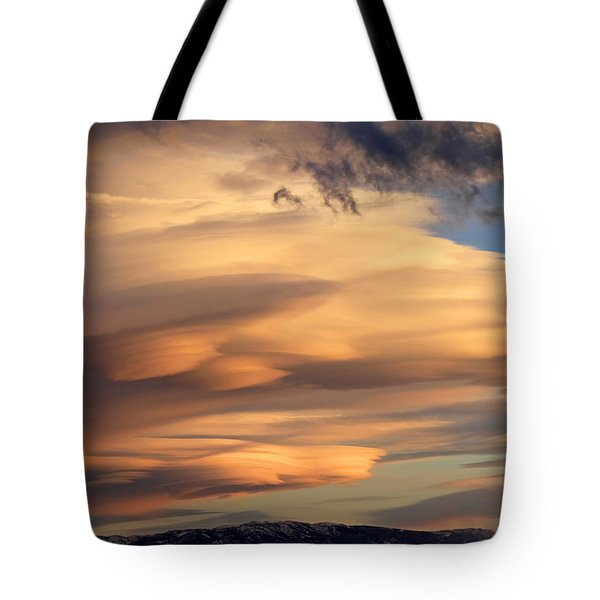 Dreamy Sunset Tote Bag by Donna Kennedy
