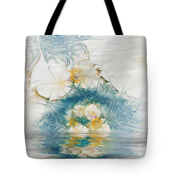 Dreamy World In Blue Tote Bag by Deborah Benoit