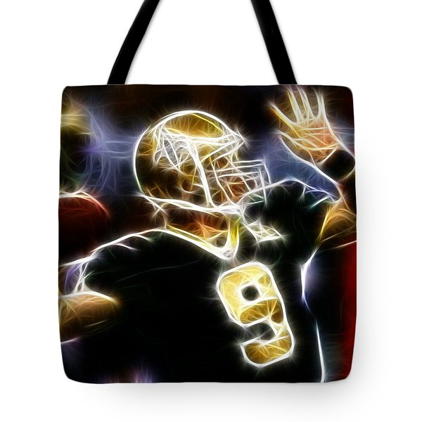 Drew Brees New Orleans Saints Tote Bag by Paul Van Scott