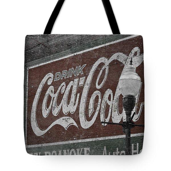Drink Coca Cola Roanoke Virginia Tote Bag by Teresa Mucha