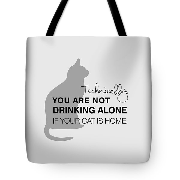 Drinking With Cats Tote Bag by Nancy Ingersoll