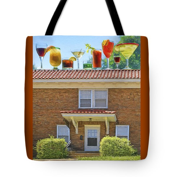 Drinks On The House Tote Bag by Nikolyn McDonald