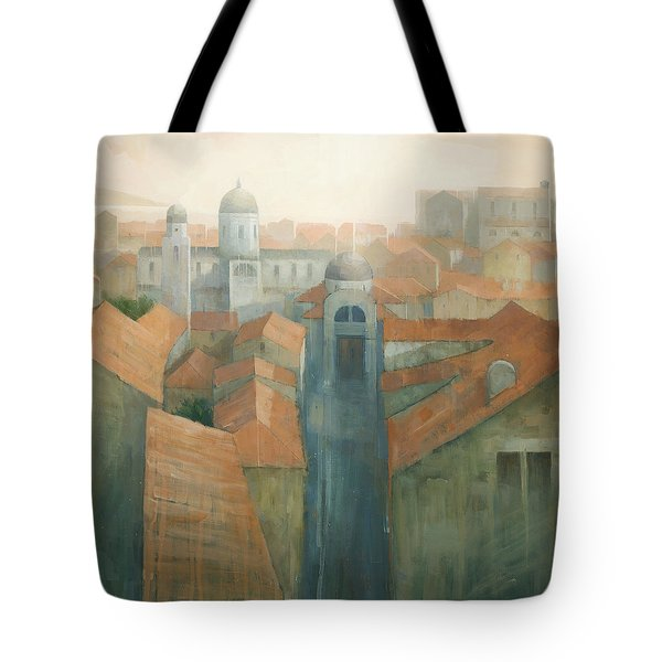 Dubrovnik Rooftops Tote Bag by Steve Mitchell