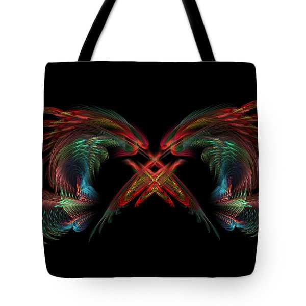 Dueling Dragons Tote Bag by Lyle Hatch