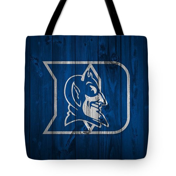 Duke Blue Devils Barn Door Tote Bag by Dan Sproul