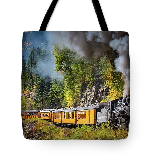 Durango-silverton Narrow Gauge Railroad Tote Bag by Inge Johnsson