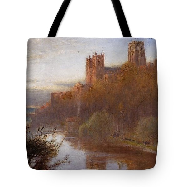 Durham Cathedral Tote Bag by Albert Goodwin