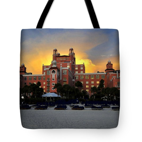 Dusk Over Don Tote Bag by David Lee Thompson