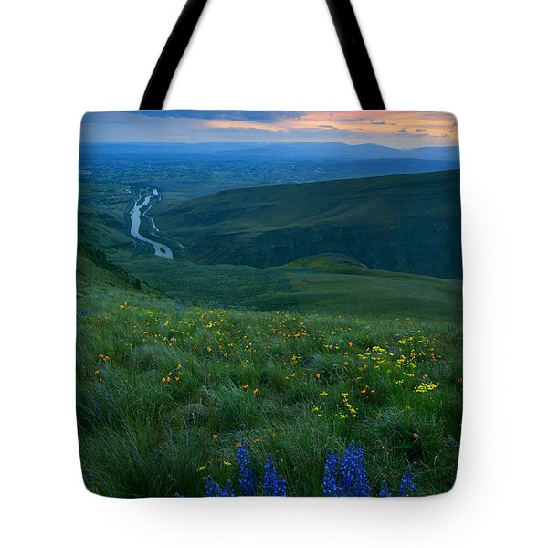 Dusk Over The Yakima Valley Tote Bag by Mike  Dawson