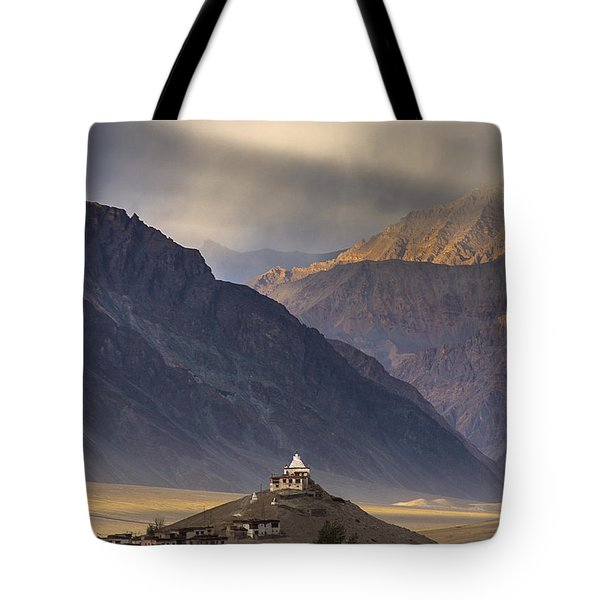 Dusty Evening Tote Bag by Hitendra SINKAR