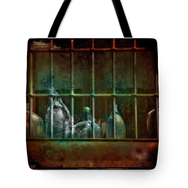 Dusty Old Bottles Tote Bag by Mal Bray