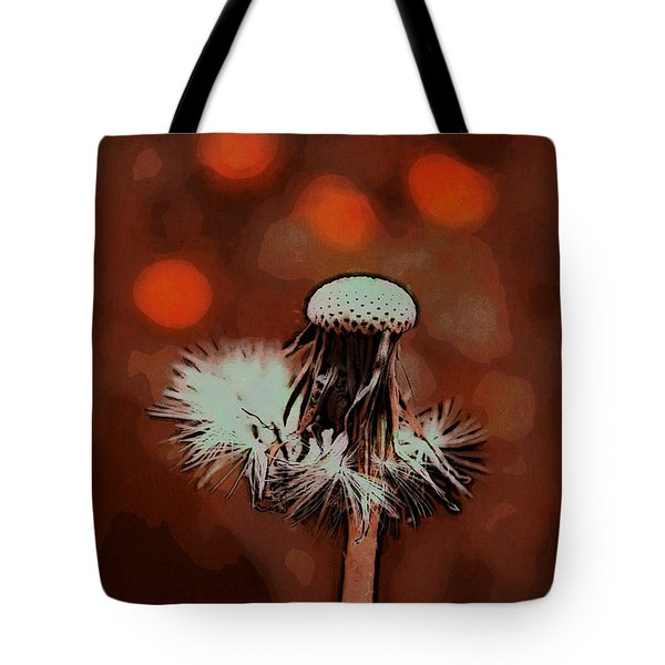 Dying Blowball Tote Bag by Jutta Maria Pusl
