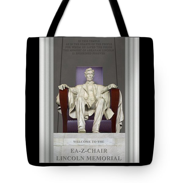 Ea-z-chair Lincoln Memorial Tote Bag by Mike McGlothlen