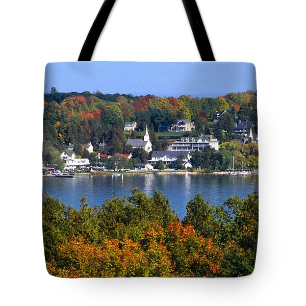 Eagle Harbor And Ephraim - Door County Tote Bag by Sandra Bronstein
