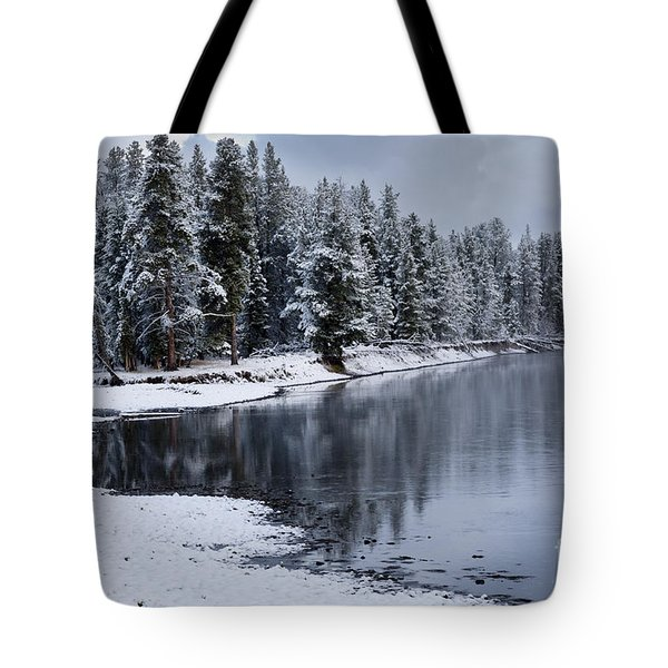 Early Fall Storm in Yellowstone Tote Bag by Sandra Bronstein
