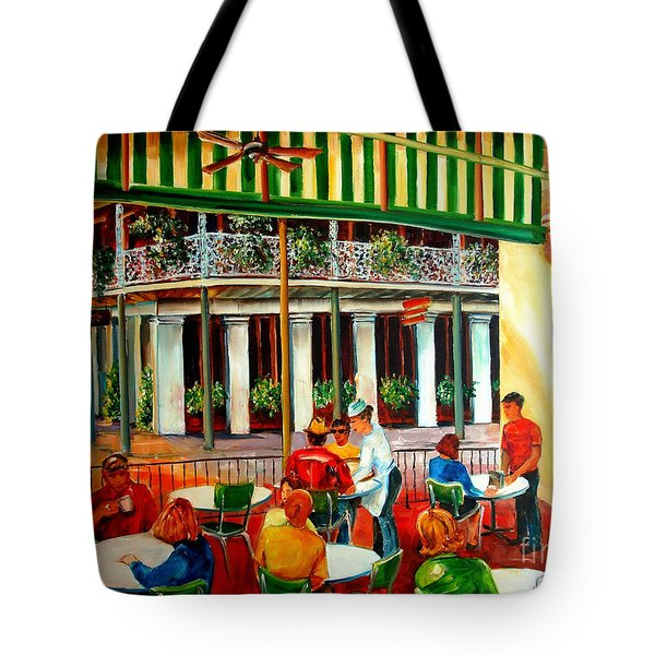 Early Morning at the Cafe Du Monde Tote Bag by Diane Millsap