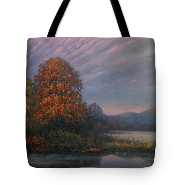 Early Morning Mist Tote Bag by Sean Conlon