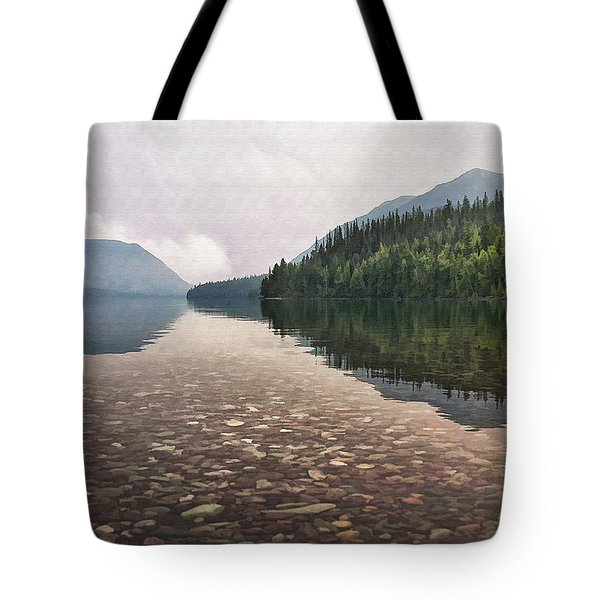 Early Morning On Lake Mcdonald II Tote Bag by Sharon Foster